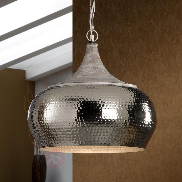 Lampa wisząca Ishara, drewno i metal 8582314