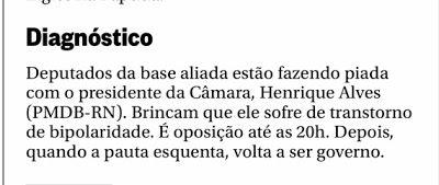 RN POLITICA EM DIA: BRINCAM QUE HENRIQUE SOFRE DE TRANSTORNO DE BIPOLA...