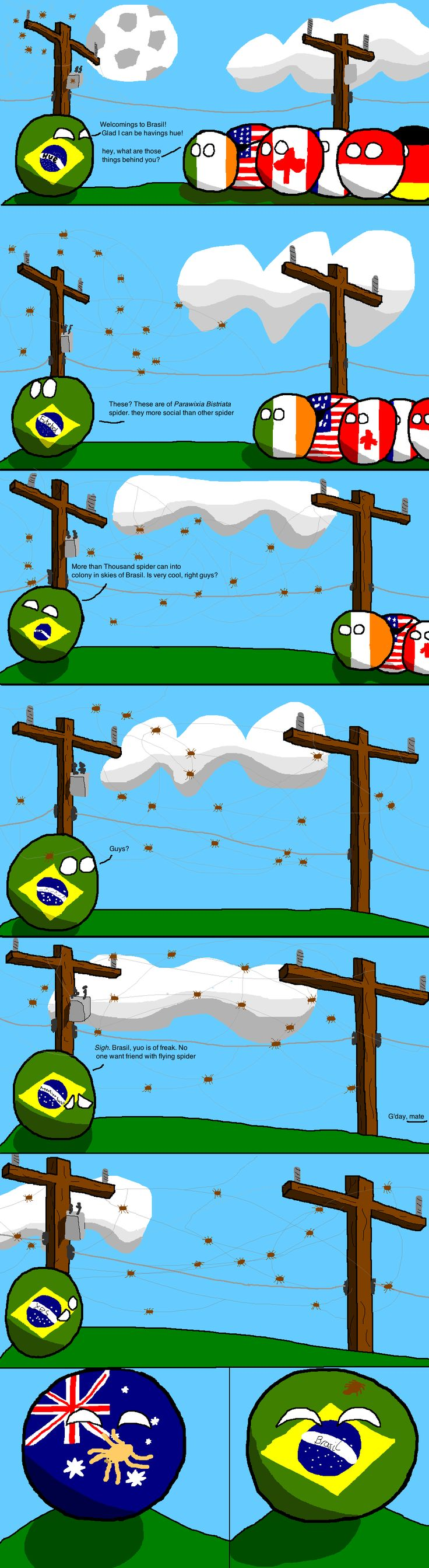 how I met all my friends Brazil makes a friend - Imgur found via the polandball facebook page
