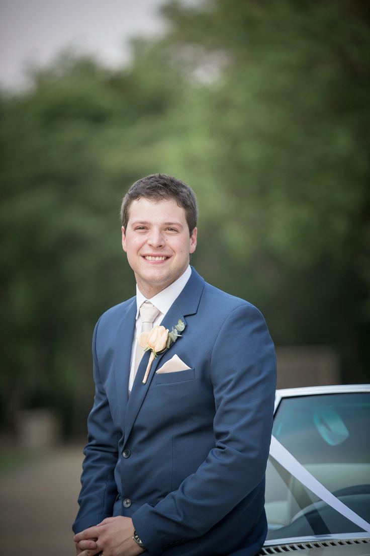 My handsome husband on our perfect day