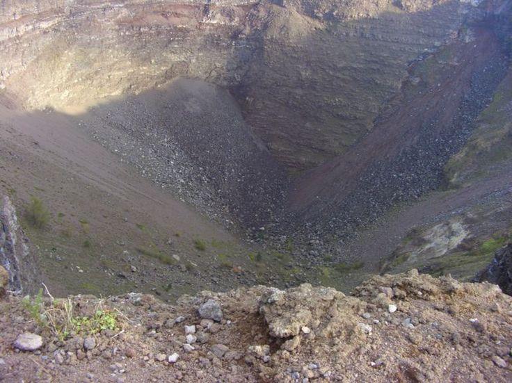 The crater of Mt. Vesuvius