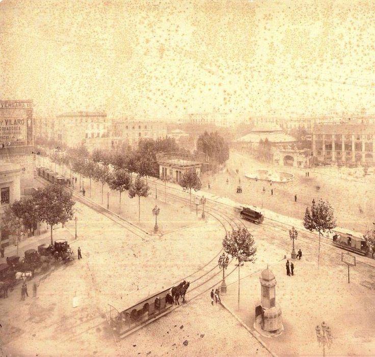 Plaça de Catalunya, 1890. Barcelona, Catalunya. Espanya.