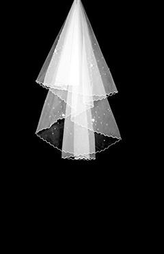 1 Layer Waltz with Beading Wedding Veil Style Code: 05575 $7.9: Style Codes, Veils Style, Wedding Veils