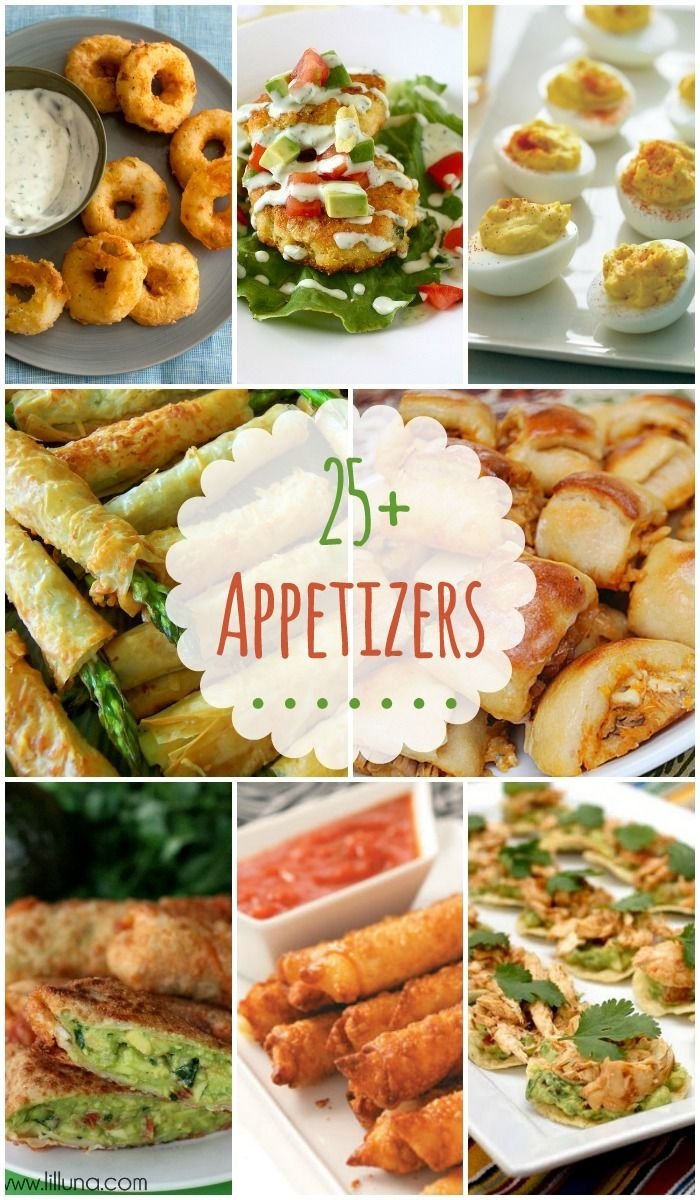 25 Appetizers - SO many delicious appetizers perfect for parties and gatherings!! { lilluna.com }
