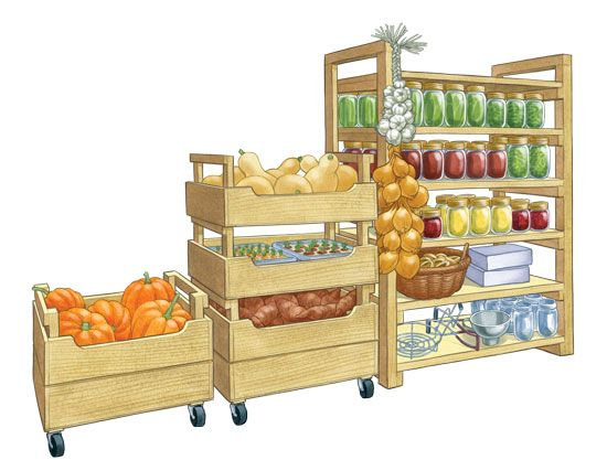 DIY Produce Storage Bins: Turn your pantry or basement into a portable storehouse with fresh crops stashed in these stackable produce storage bins. The plans offer two versions of DIY storage bins: tall and short.  From MOTHER EARTH NEWS magazine.