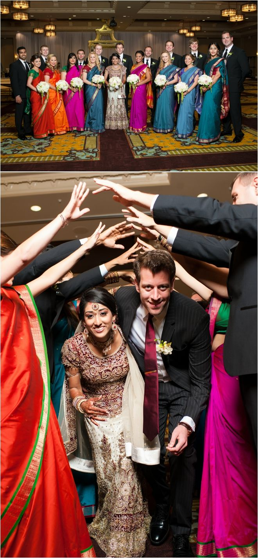 Bridesmaids wearing saris for indian wedding ceremony ~  Photo: Biyani Photography