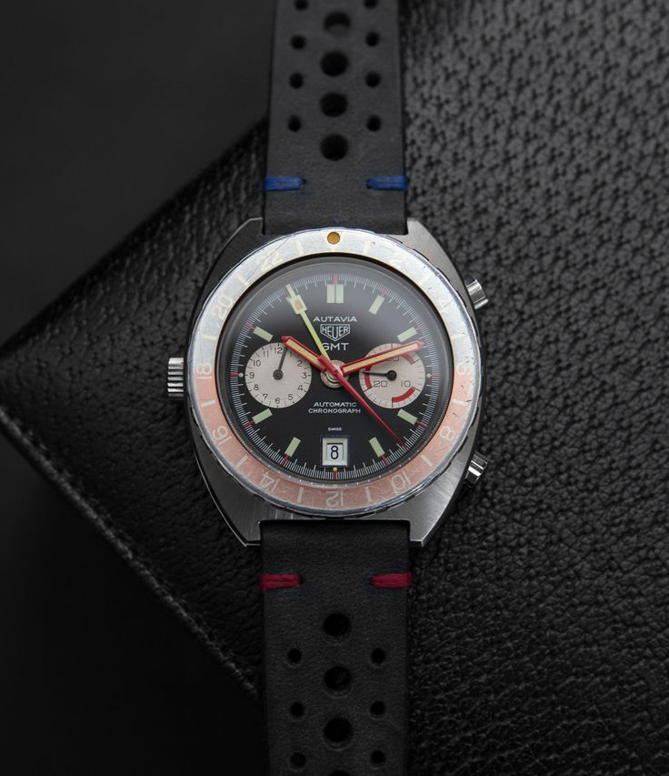 vintage Heuer Autavia GMT 11630 70s sport watch at A Collected Man London
