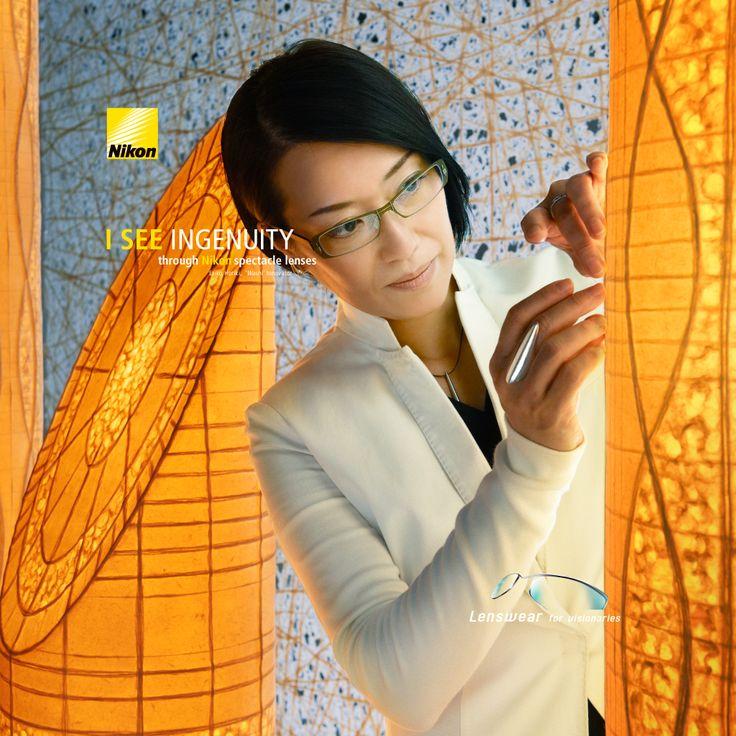 """I SEE INGENUITY  Eriko Horiki, kelahiran Kyoto, Jepang tahun 1962. Eriko Horiki Menggunakan kertas Washi (kertas tradisional Jepang; lembar ukuran dasar 2700 x 2100mm) untuk membuat potongan-potongan hidup dari karya seni yang digunakan untuk menghias ruang interior. Dia mendirikan """"SHIMUS"""", yang berasal dari WASHI (kertas Jepang) + MUSUBU (link / menghubungkan / menyatukan)."""