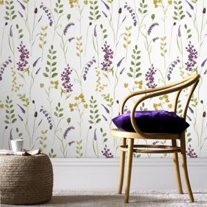 Graham & Brown Damson Bluebell wallpaper- at Debenhams Mobile I love graham and brown wallpaper this is beautiful!!