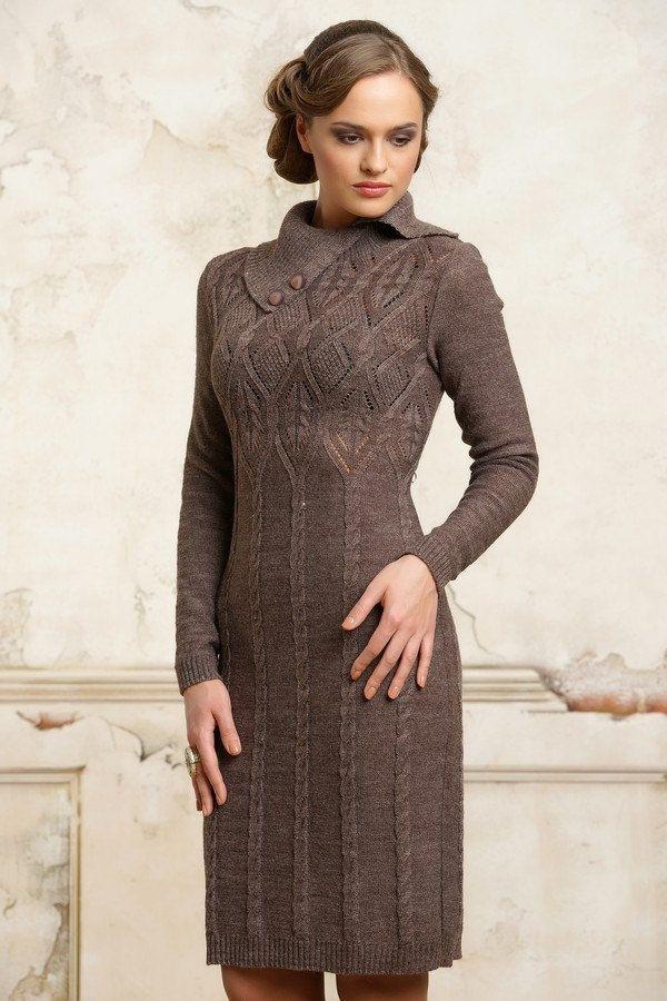 Hand Knit Women dresssweater coat aran jacket от BANDofTAILORS