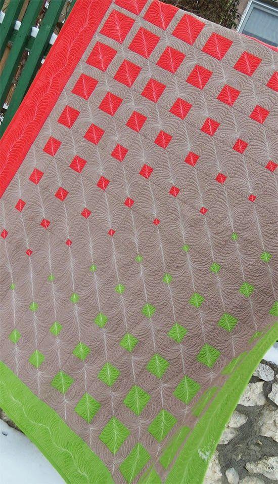 Geometric Three Color Patchwork Quilt Pattern /Geta's Quilting Studio