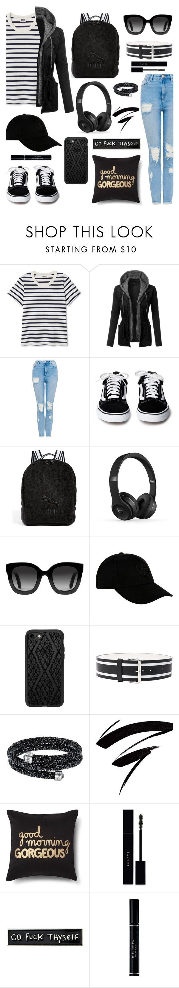 """Dress up a T-shirt"" by mvarun74 ❤ liked on Polyvore featuring LE3NO, Puma, Gucci, STONE ISLAND, Casetify, Monse, RIPNDIP, Christian Dior and MyFaveTshirt"