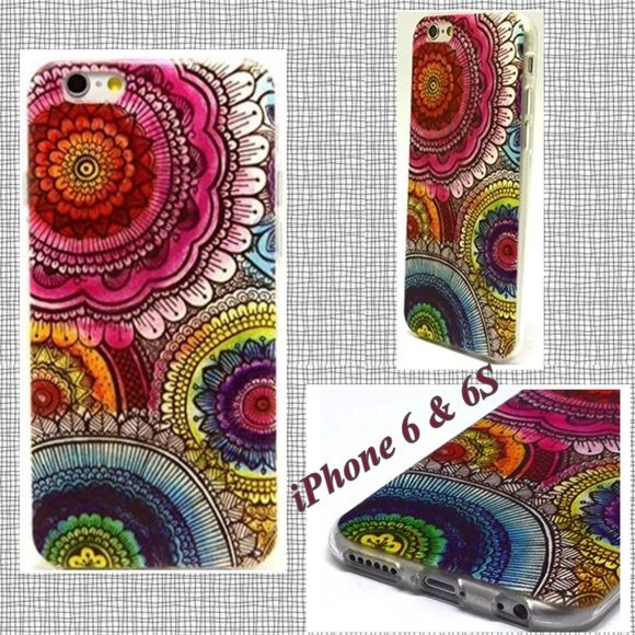 NEW packaged phone skin for the IPhone 6 and 6✨✨✨ Really pretty rubber silicone iPhone skin NEW for iphone 6 and 6S.✨✨✨ free screen protector Accessories Phone Cases