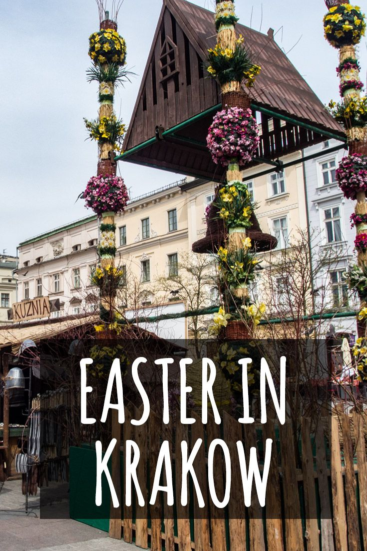 Would you like to spend Easter in Europe? Krakow in Poland is perfect for that! A picturesque city with a beautiful square, an amazing castle and a lot of cute little streets to wander through. See my article to learn what places stay open throughout Easter and what you should do to get the most out of your Easter break in Krakow. #krakow #poland #easter