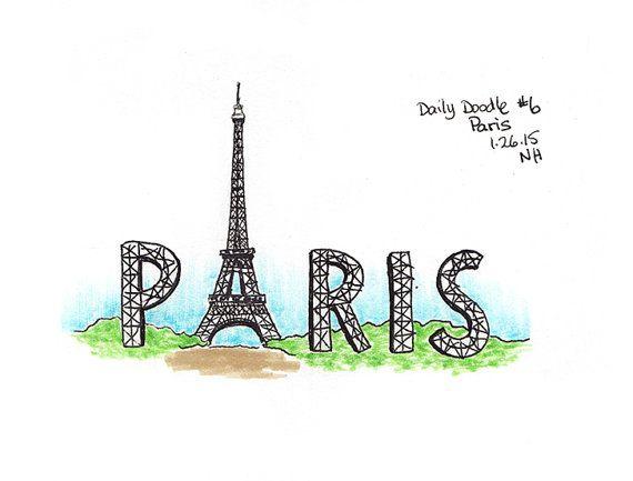 No.6 Paris - Drawing / Illustration / Daily Doodle