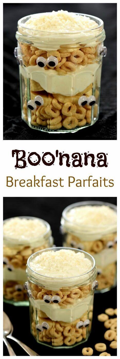 Spooky Banana breakfast parfaits - a fun kids food idea for Halloween - Eats Amazing UK