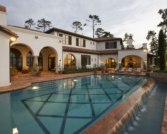 Pool Spanish Design For Style Home Architecture InteriorsSanta