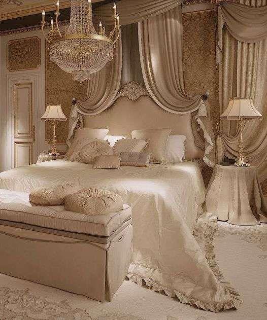 Idee per arredare la camera da letto con il color champagne - Arredo tessile champagne