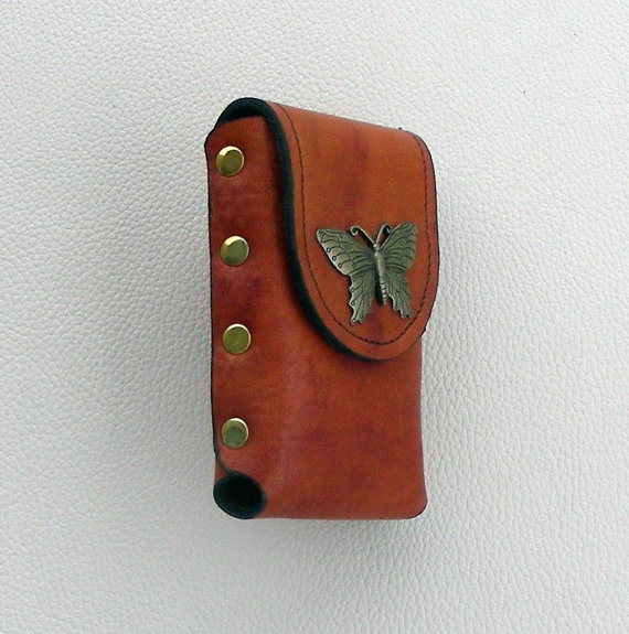 Leather Butterfly Case