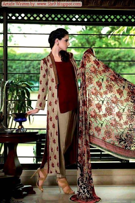 Gul Ahmed Velvet Dresses (7)