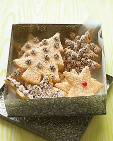 Cinnamon Sugar Cookies.. Stash the dough for these cookie-cutter favorites in the freezer, then bake them off and sparkle them up for everyone on your gift list.