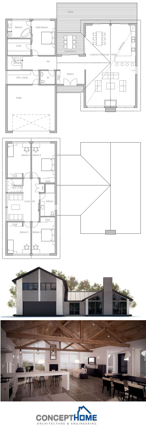 1176 best Proiecte Case images on Pinterest | Cottage floor plans ...