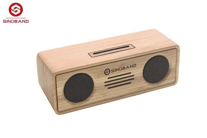 De Buena Calidad Altavoz bajo estupendo de madera de bambú de Bluetooth MP3 del amplificador audio del altavoz de Bluetooth del subwoofer Venta