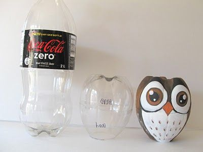 Another cute recycle project... I have the hardest time getting enough 2 L bottles... I wonder if a smaller scale water bottle would work.