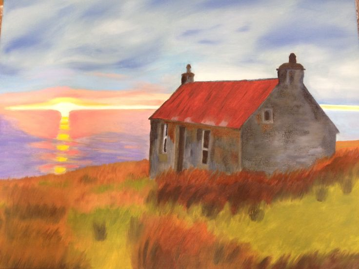 Bothy by the Sea - Oil on Canvas