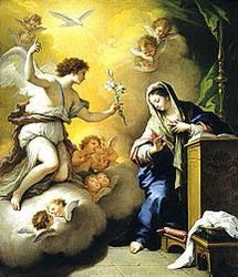 » La Anunciacion del Angel Gabriel a Maria - Religion Catolica Romana