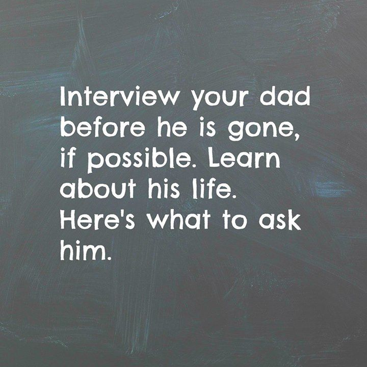 INTERVIEW SOMEONE YOU LOVE ABOUT LIFE Questions from Brendon Burchard --Follow link for questionsto