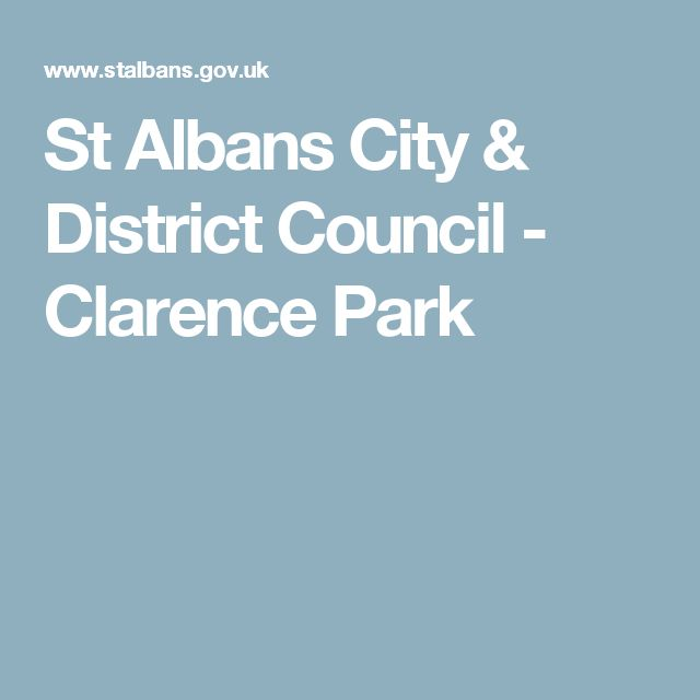 St Albans City & District Council - Clarence Park