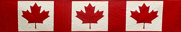 Free Pattern of Canadian Flag Table Runner