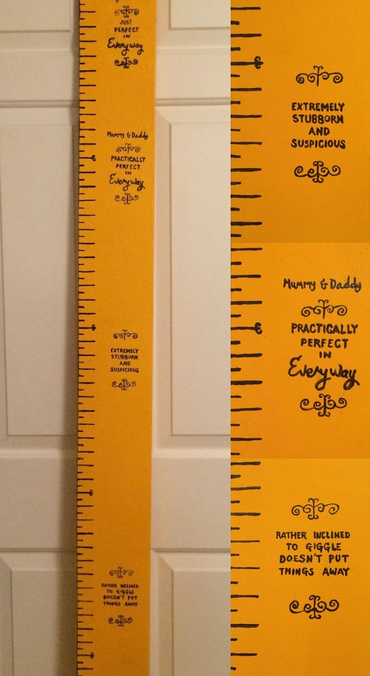 Mary Poppins Tape Mesure(ing Stick) Based on Mary Poppins' Tape Measure this was made for friends to mark the arrival of their first child. RebDesmondDesigns