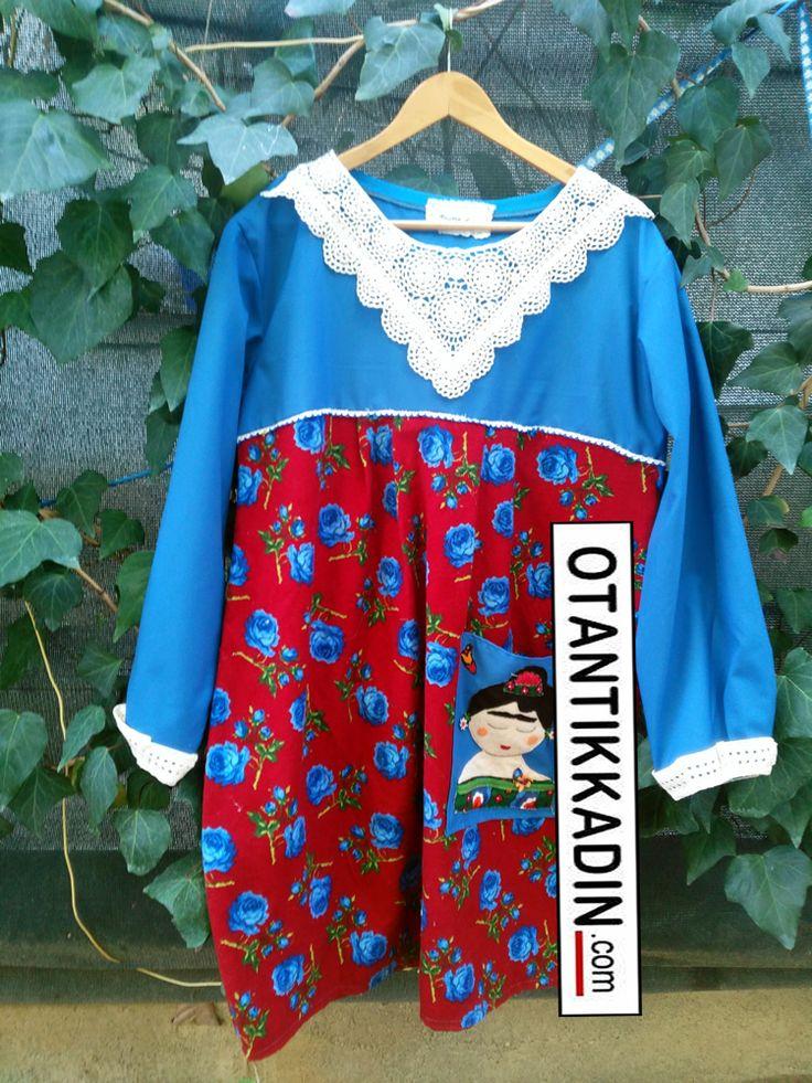 Otantik Kırmızı- Mavi Pazen Elbise - 241116-3 | Otantik Kadın, Otantik Giysiler, Elbiseler,Bohem giyim, Etnik Giysiler, Kıyafetler, Pançolar, kışlık Şalvarlar, Şalvarlar,Etekler, Çantalar,şapka,Takılar