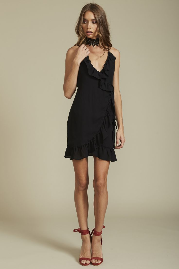 Lioness - Caliente Ruffle Dress – Black