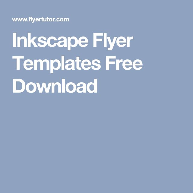 Inkscape Flyer Templates Free Download