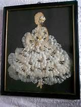Vintage Framed Paper Doll Ribbon