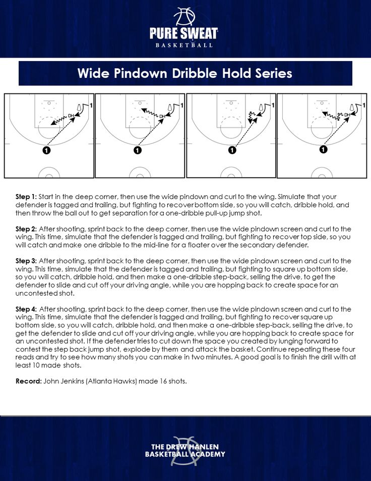 Competitive Shooting Challenges Wide Pindown Dribble