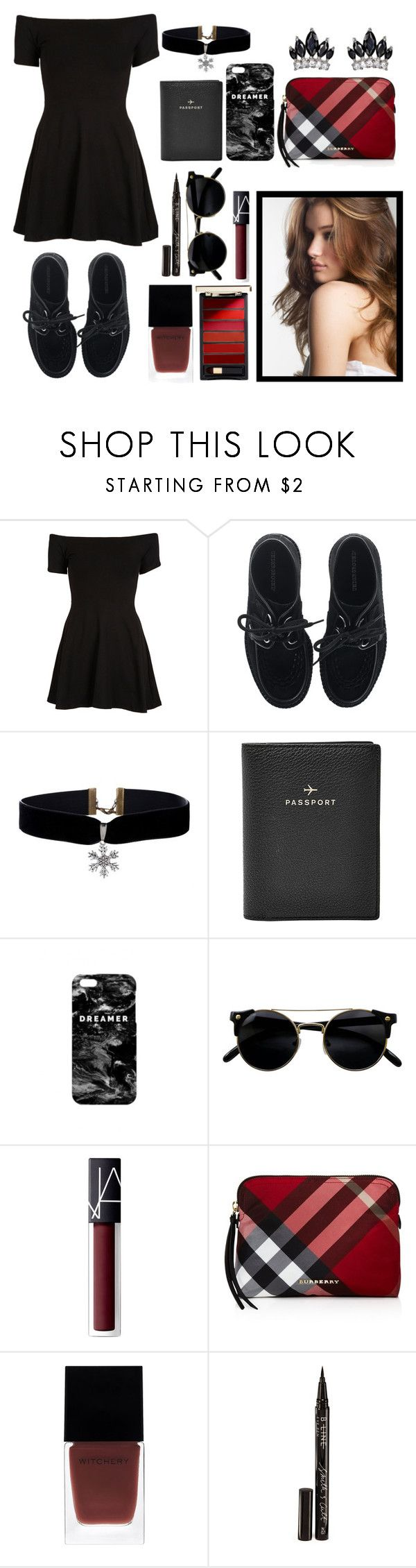 """45445"" by supegirl55 ❤ liked on Polyvore featuring beauty, Motel, Underground, FOSSIL, Mr. Gugu & Miss Go, NARS Cosmetics, Burberry, Witchery, Smith & Cult and Fallon"