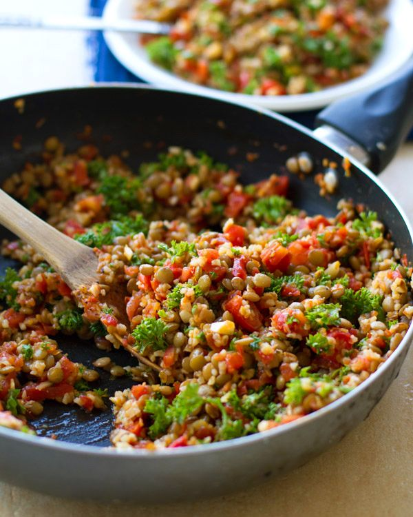 Lentil salad - if you haven't tried lentils before then this is a great recipe to start with! They are very quick and easy to cook, but most importantly delish!