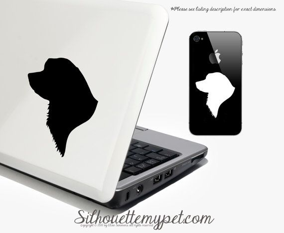 Bernese Mountain Dog Decal Vinyl Sticker - SilhouetteMYpet Design on Etsy, $4.00
