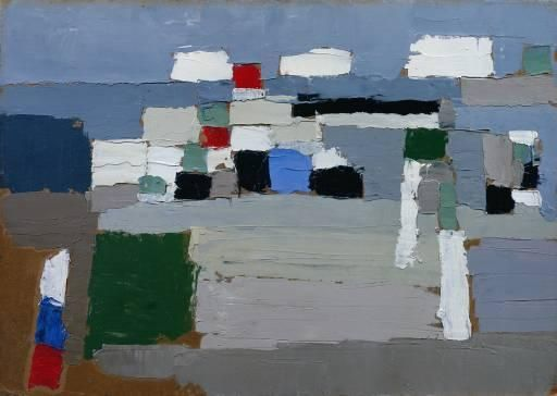 Nicolas de Staël, Landscape Study, 1952, oil on wood (Tate Modern, London)