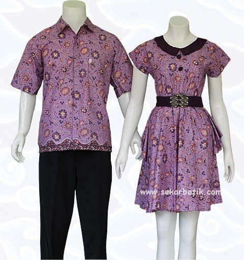 batik sarimbit couple ungu 79 di katalog terbaru www.sekarbatik.com