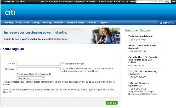 citibank credit card customer service phone number