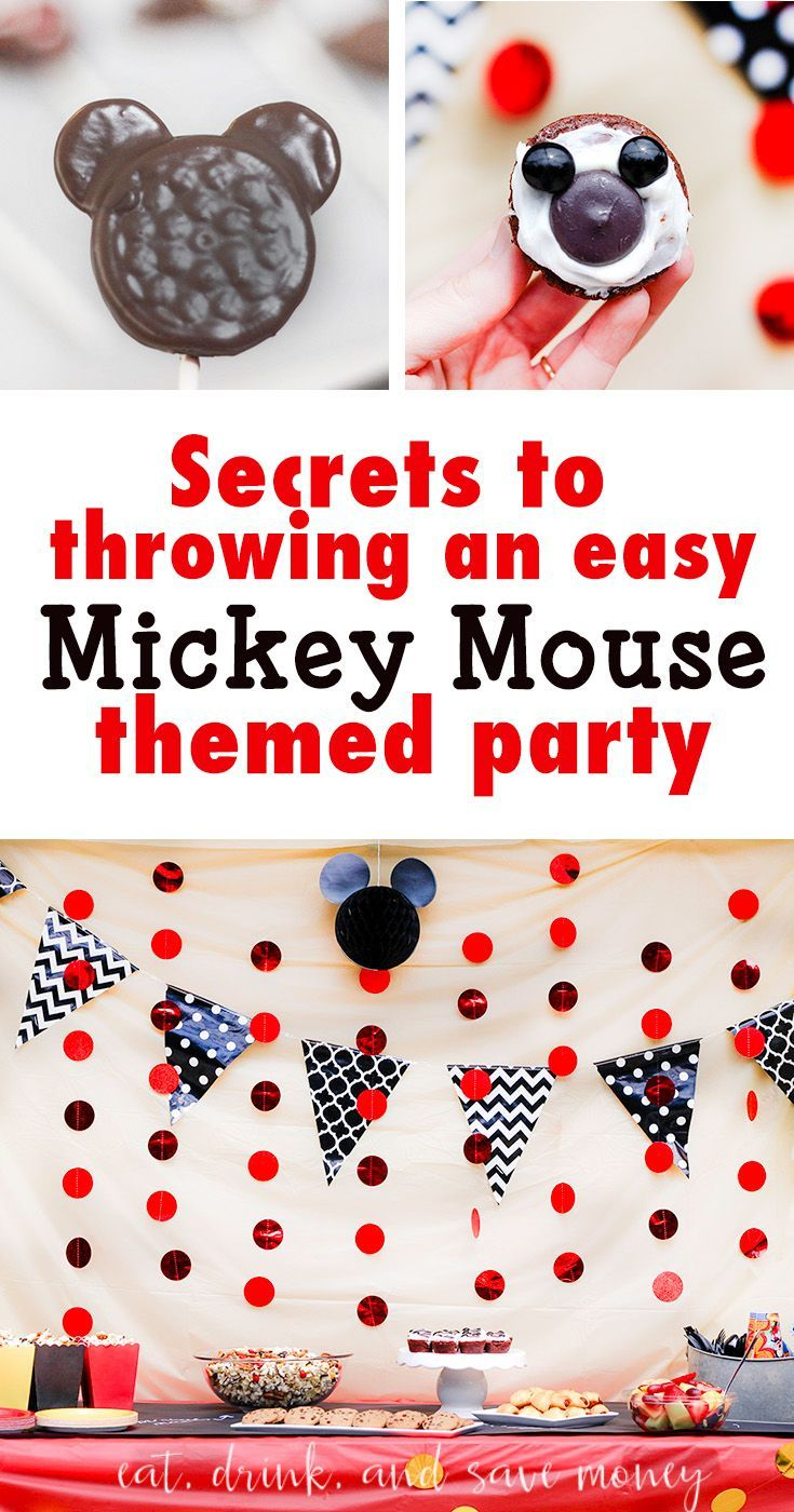 How to throw an easy Mickey Mouse themed party or mickey mouse birthday party. Disney themed party. Mickey birthday party.   How to Throw an Easy Mickey Mouse Themed Party http://eatdrinkandsavemoney.com/2017/05/03/how-to-throw-an-easy-mickey-mouse-themed