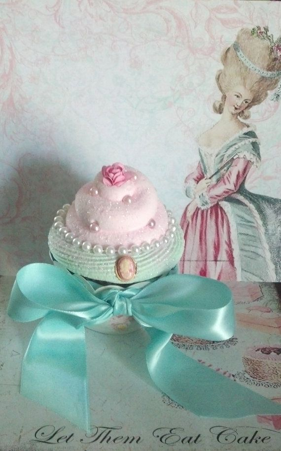 Marie Antoinette Fake Cupcake, Let Them Eat Cake Photo Props and Home Displays, Victorian and Shabby Cottage Cupcake Wrappers Decor on Etsy, $12.50