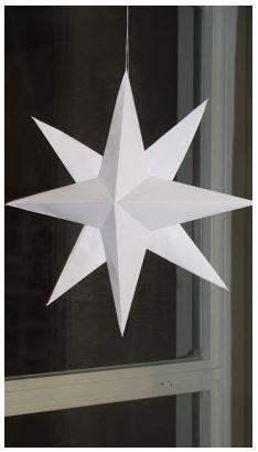 Paperista taiteltu tähti