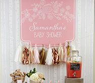 Rustic Themed Baby Shower Back Drop