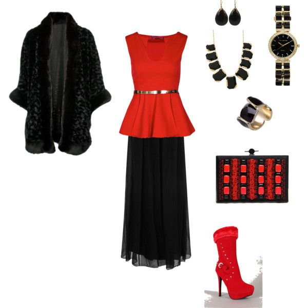 """""""Classy Red"""" by line-leduc on Polyvore"""